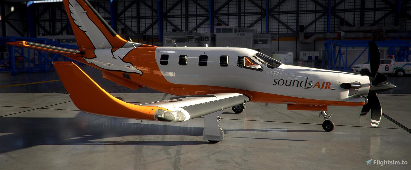 New Zealand Sounds Air TBM 930