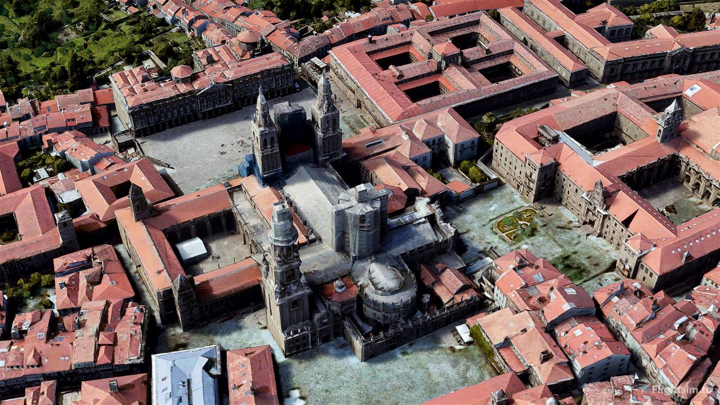 Santiago de Compostela, Galicia, Spain Image Flight Simulator 2020
