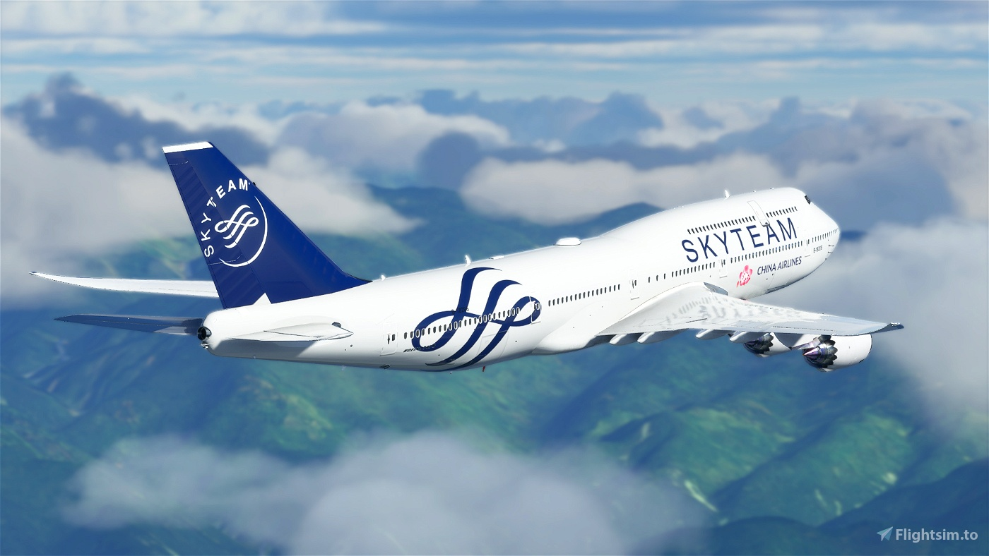 B747 China Airlines Skyteam Livery