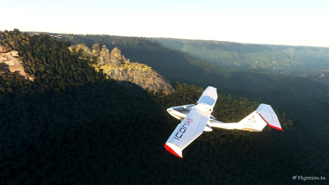 Three Sisters, Katoomba NSW, Australia Flight Simulator 2020