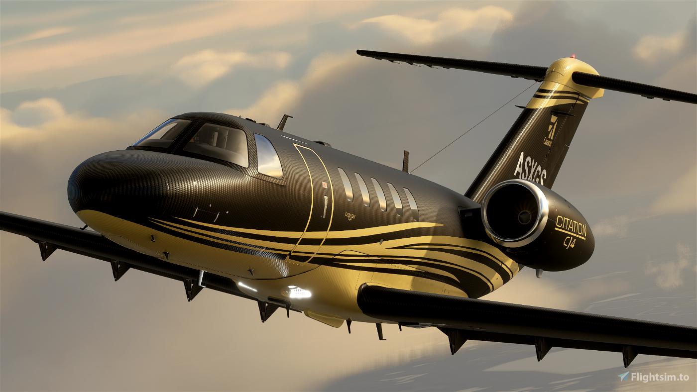 Citation CJ4 - Carbon Gold [ 4K | 2K ] Flight Simulator 2020