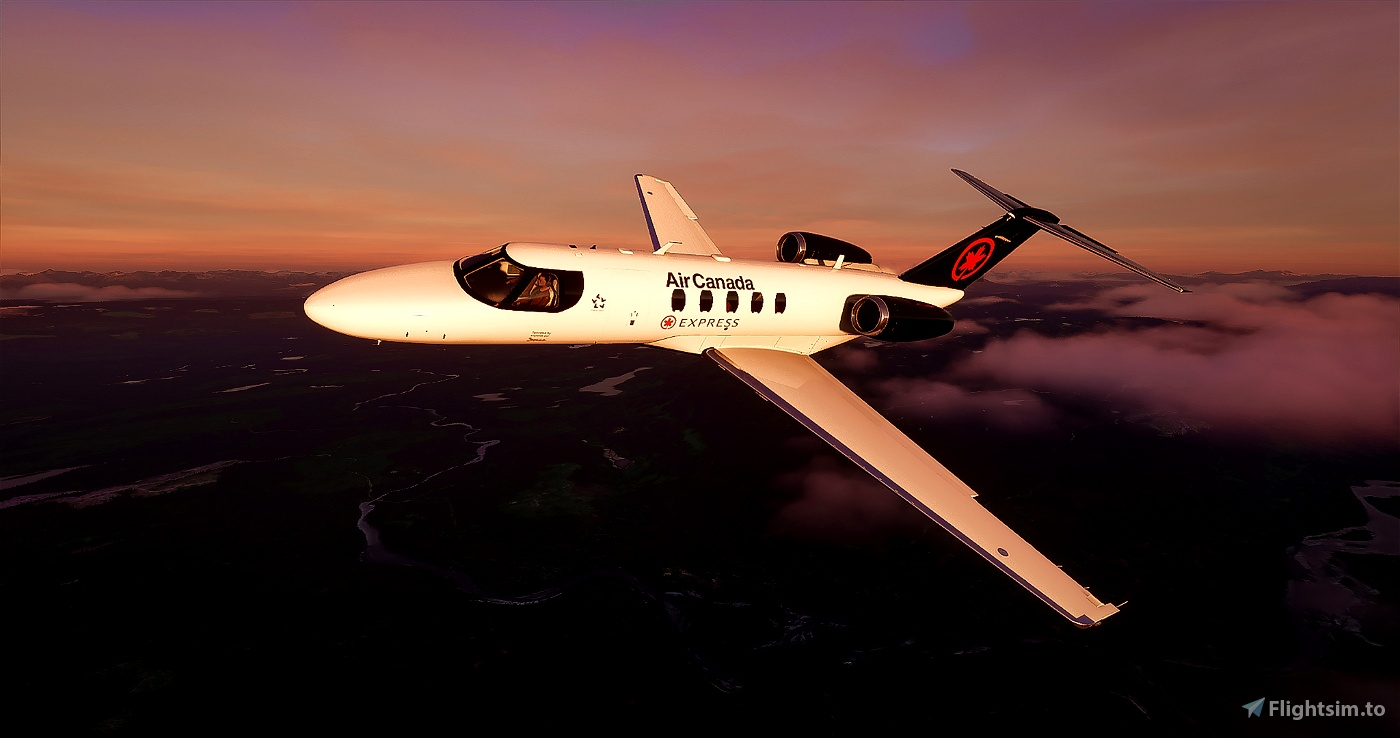 Citation CJ4 Air Canada (with custom Interior) UPDATED