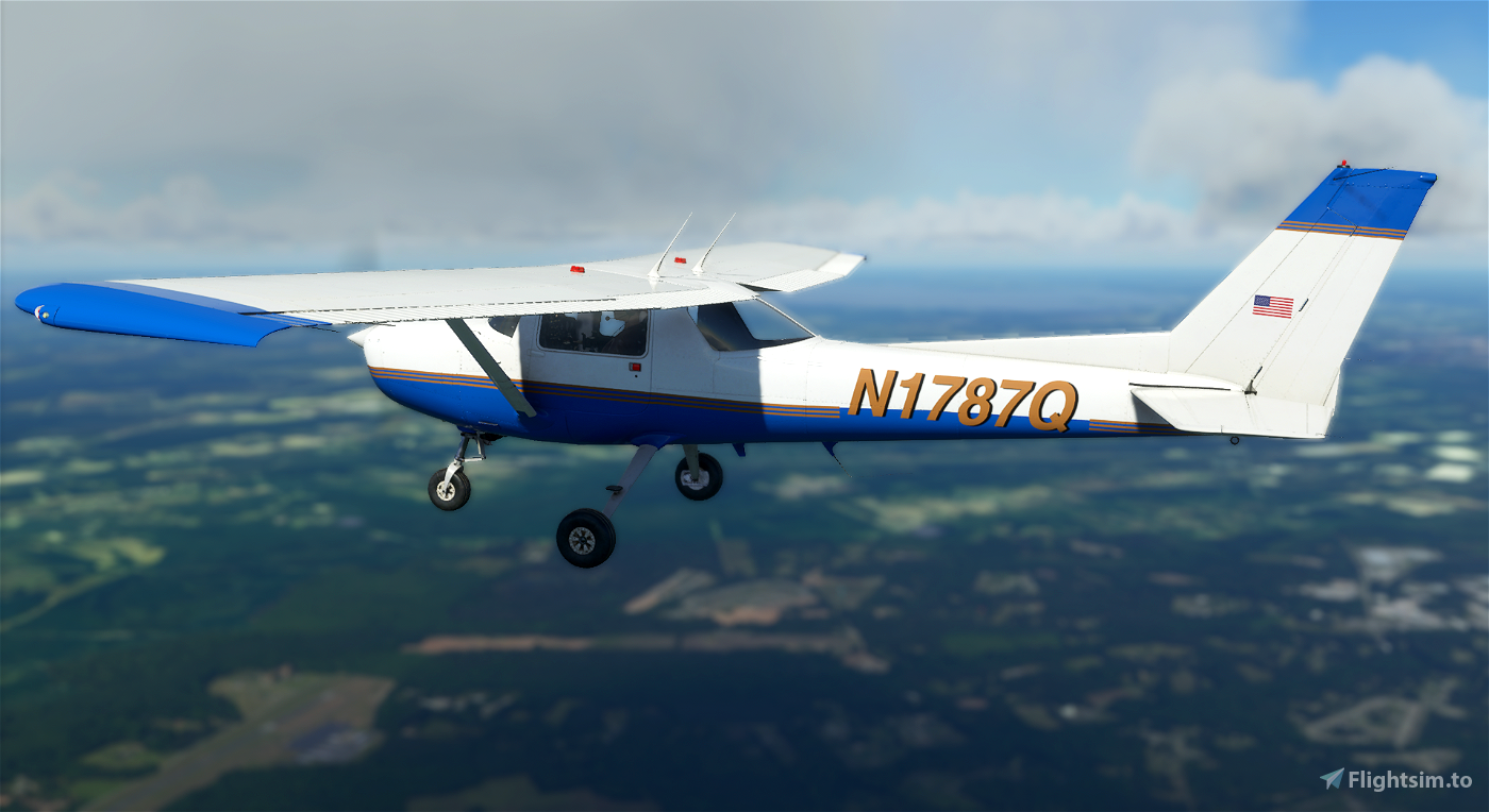 Cessna 152 N1787Q Real-World Livery