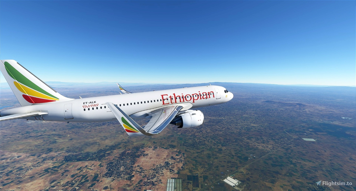 A320 Ethiopian Airlines | 4K Flight Simulator 2020