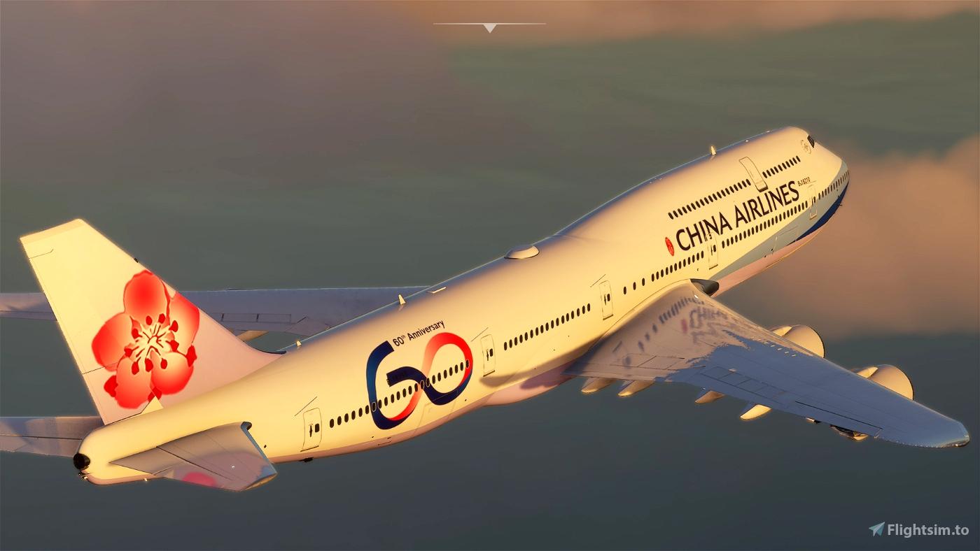 B747 China Airlines 60th Anniversary Livery