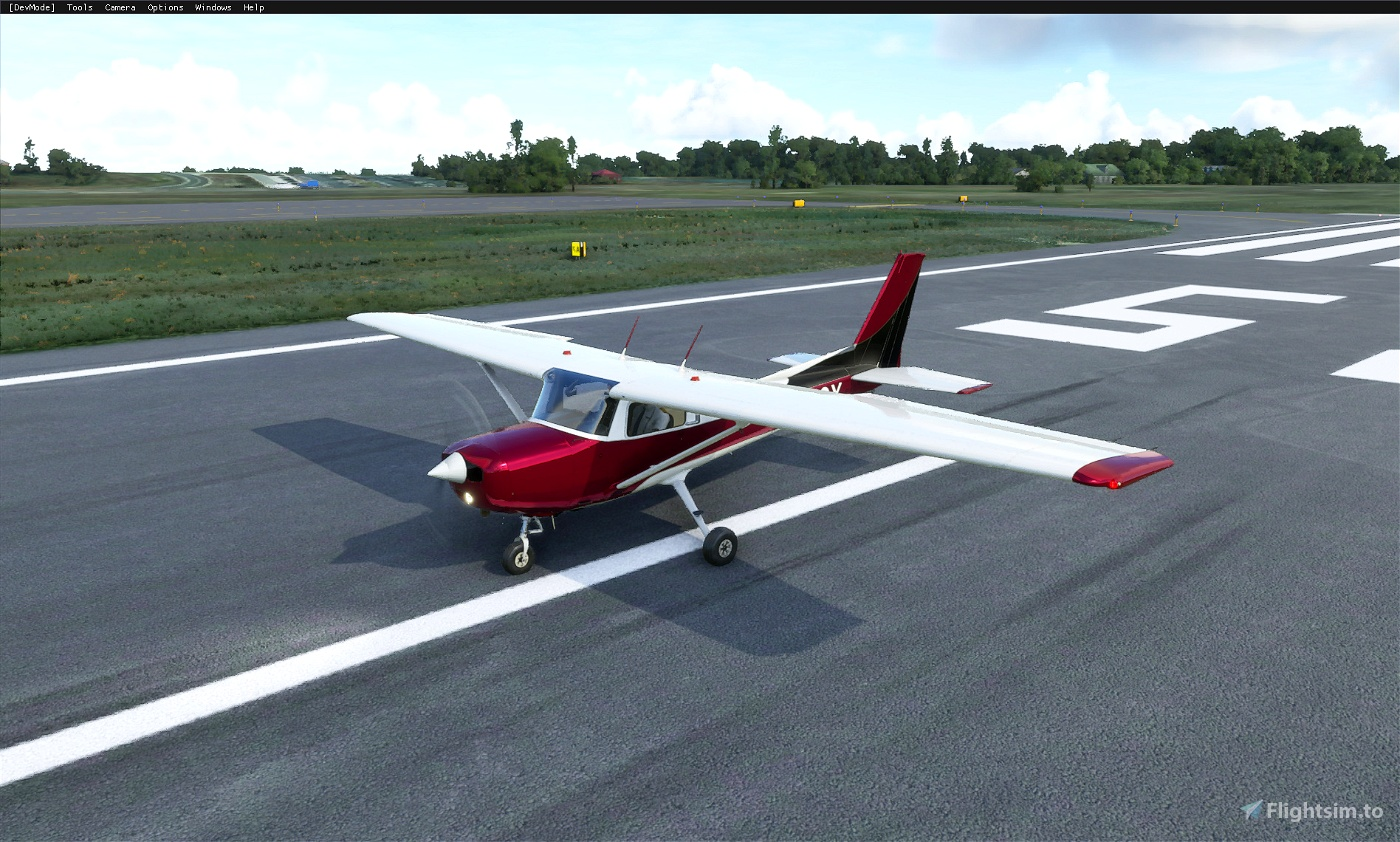 Cessna 152 (standard) - Metallic paints (5 colors) Image Flight Simulator 2020