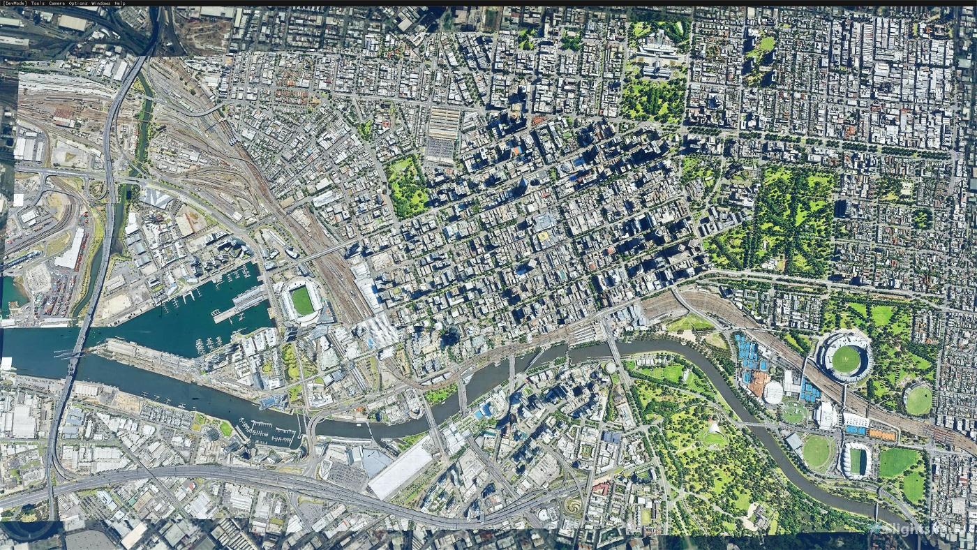 Melbourne Australia Cityscape Optimised Image Flight Simulator 2020
