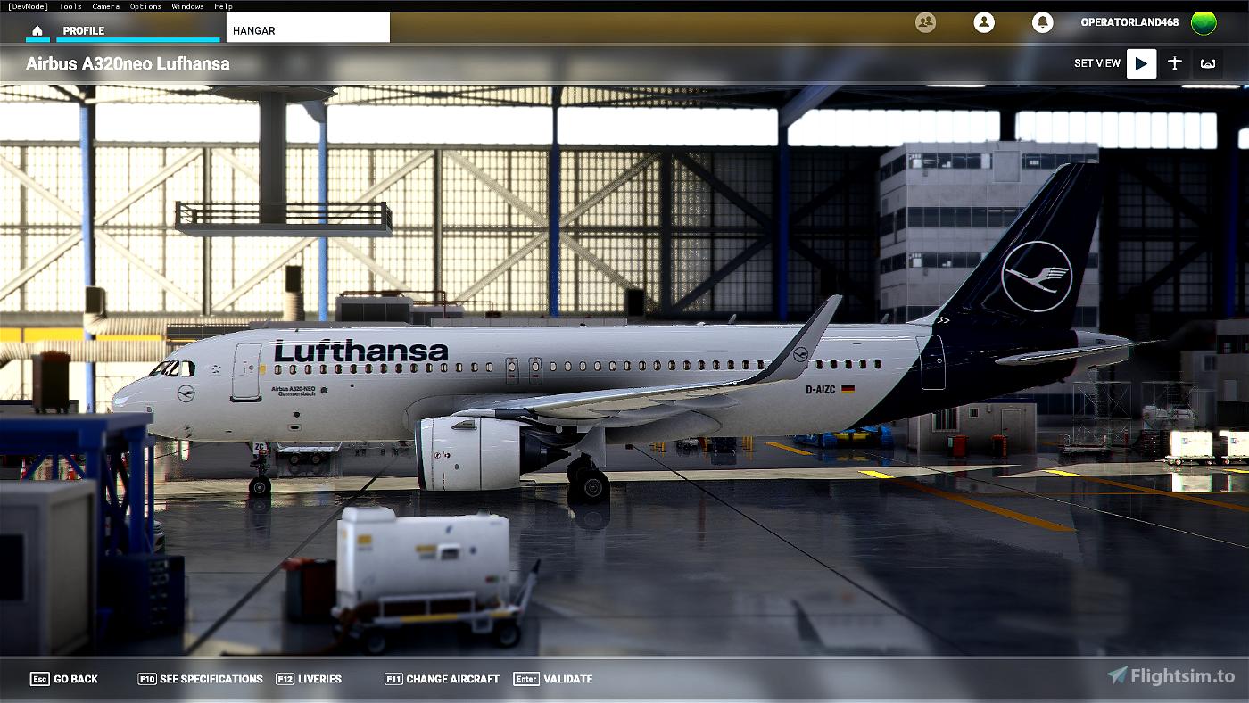 Lufthansa Livery - Ultra Resolution Image Flight Simulator 2020