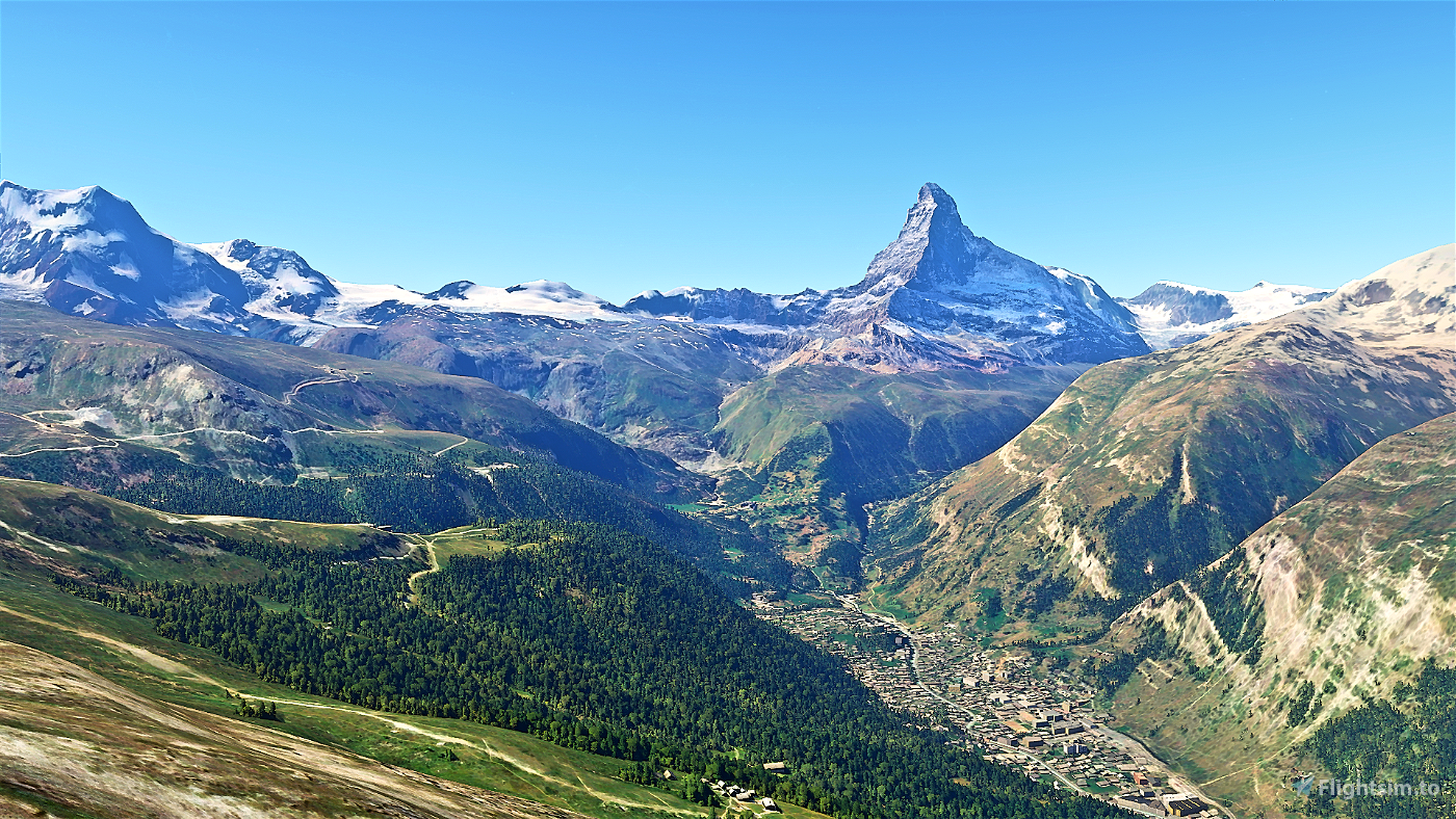 Matterhorn Mountain  Flight Simulator 2020