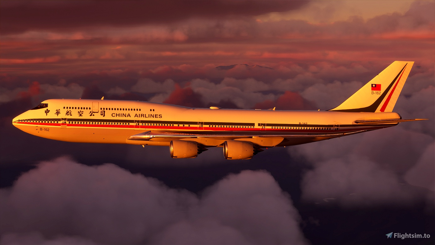 B747 China Airlines Retro Livery