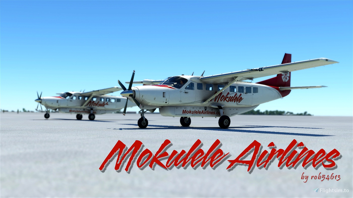 Mokulele Airlines Cessna 208b Grand Caravan EX Livery Flight Simulator 2020