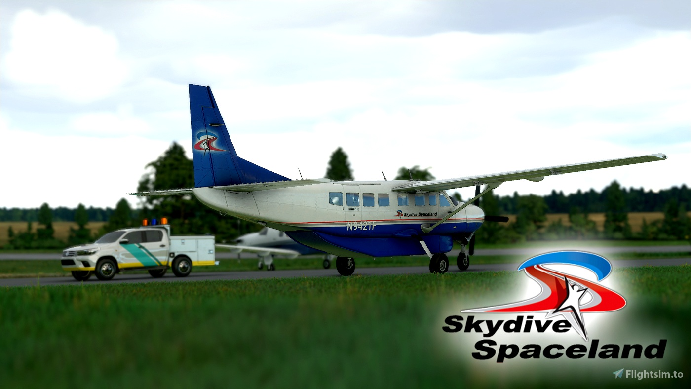 Skydive Spaceland Cessna 208b Grand Caravan EX Livery Flight Simulator 2020