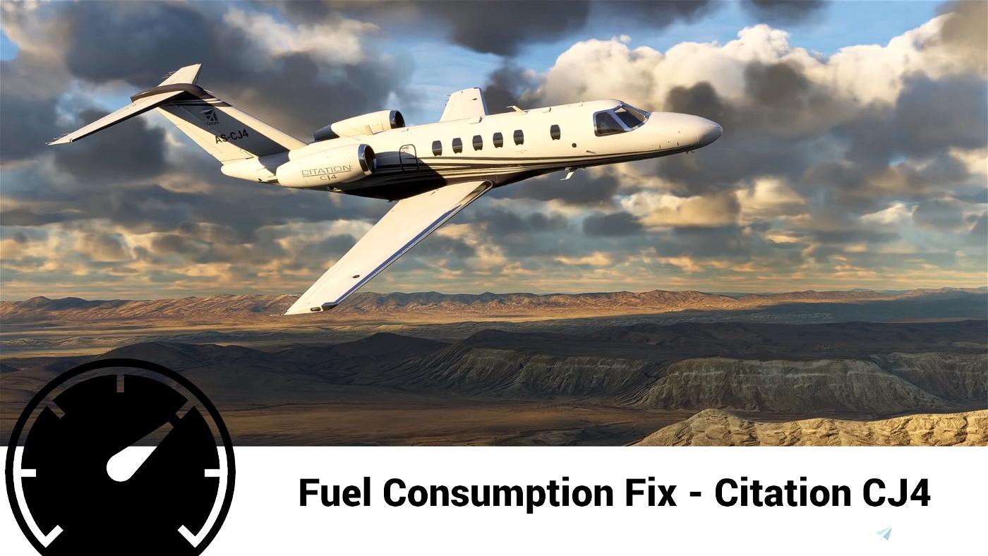 Textron Citation CJ4 Accurate Fuel Fix Flight Simulator 2020