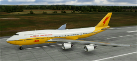 747-800i DHL  Image Flight Simulator 2020