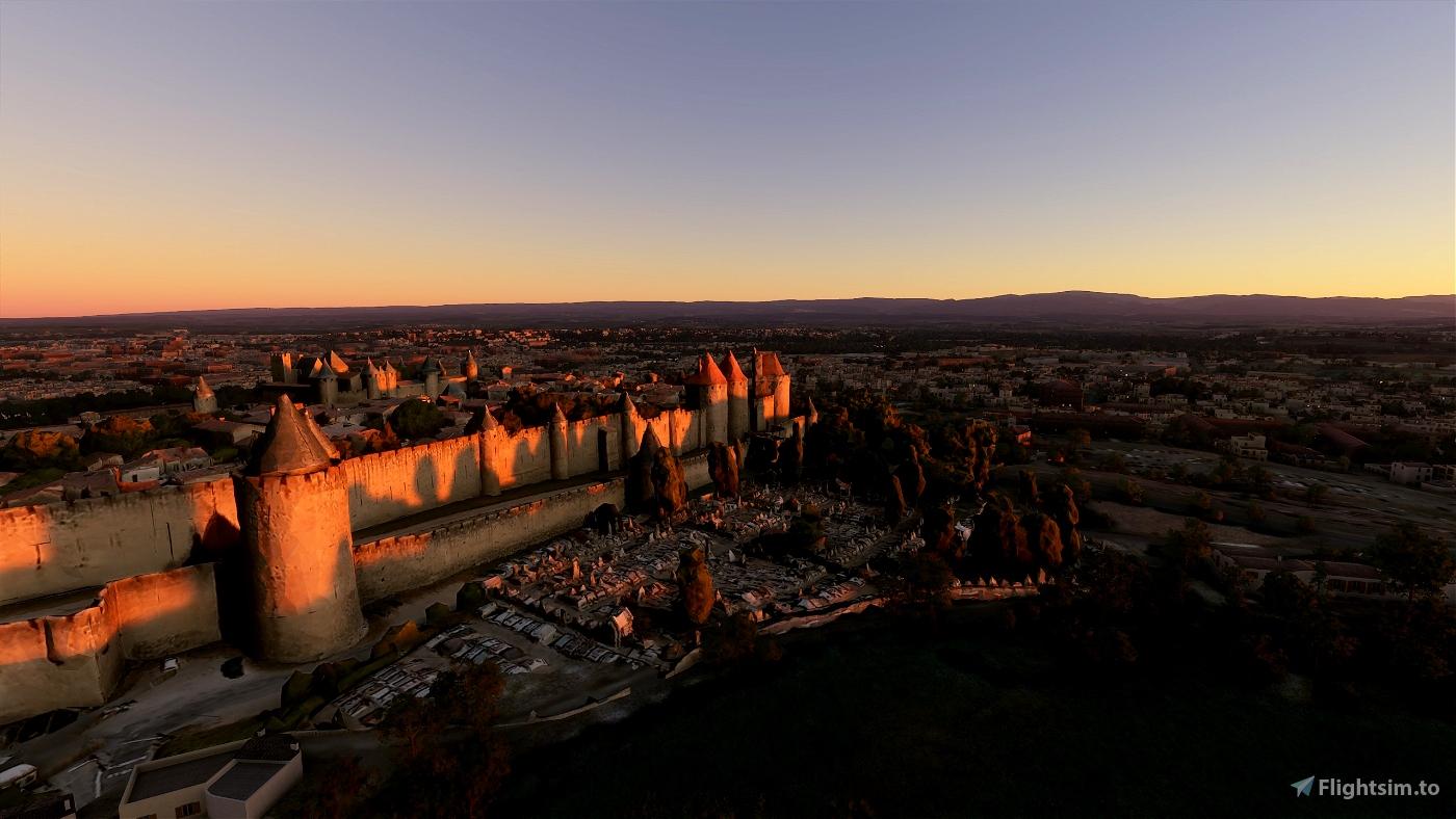Cité de Carcassonne, walled city Microsoft Flight Simulator