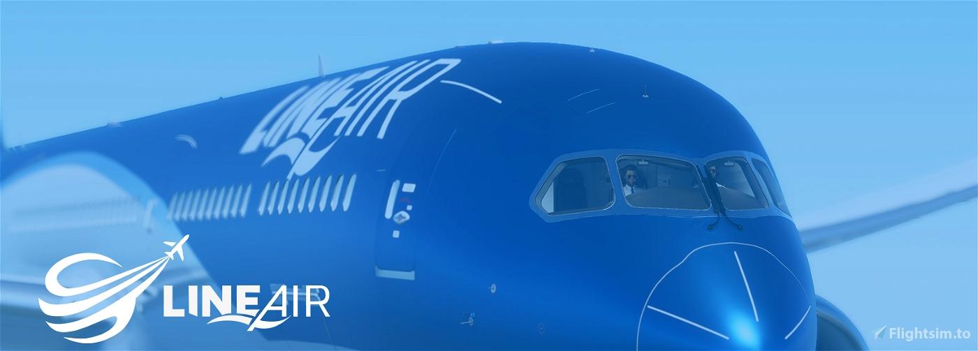 Line Air Metallic| NEW METHOD Flight Simulator 2020