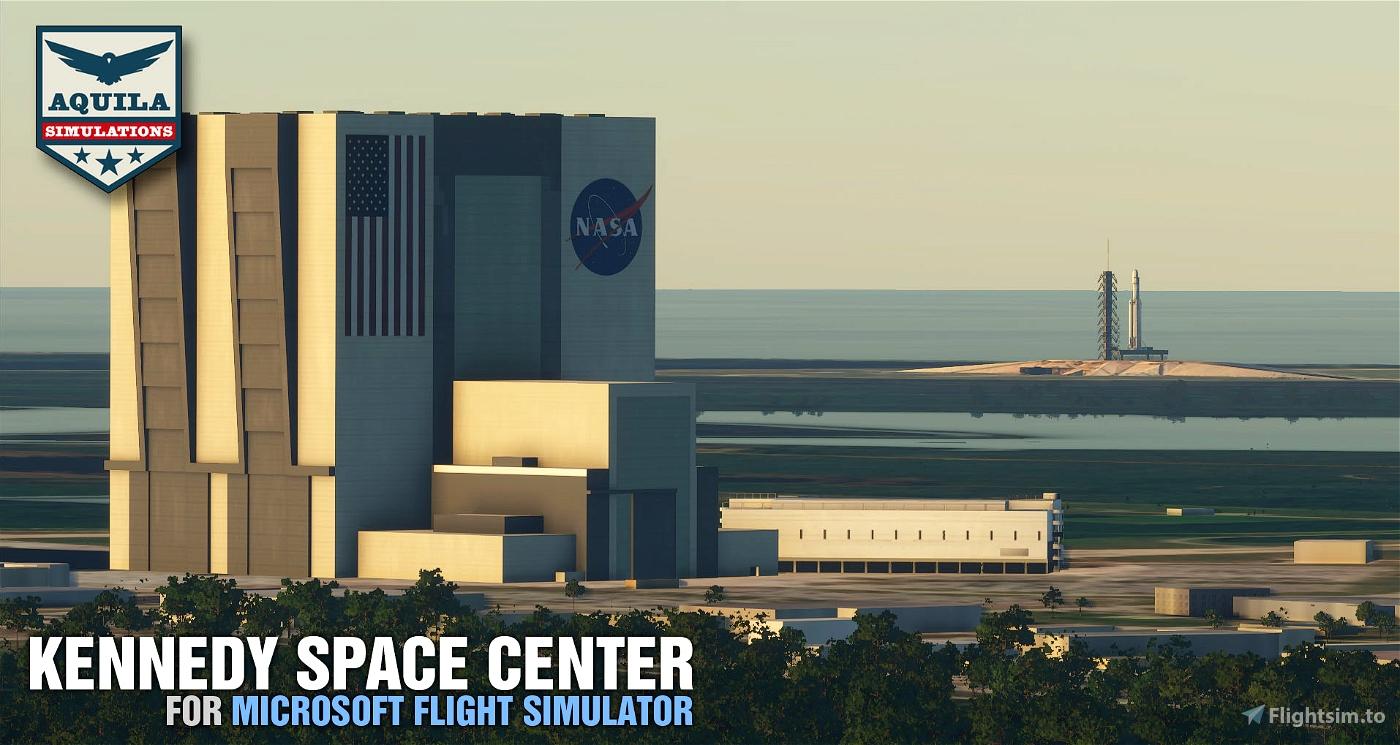 Kennedy Space Center Image Flight Simulator 2020
