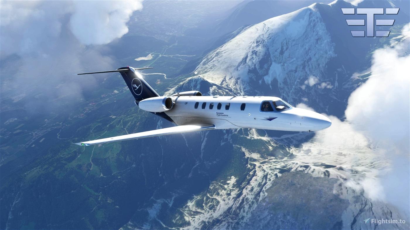MSFS2020 - Asobo - Cessna Citation CJ4 - Lufthansa Flight Academy
