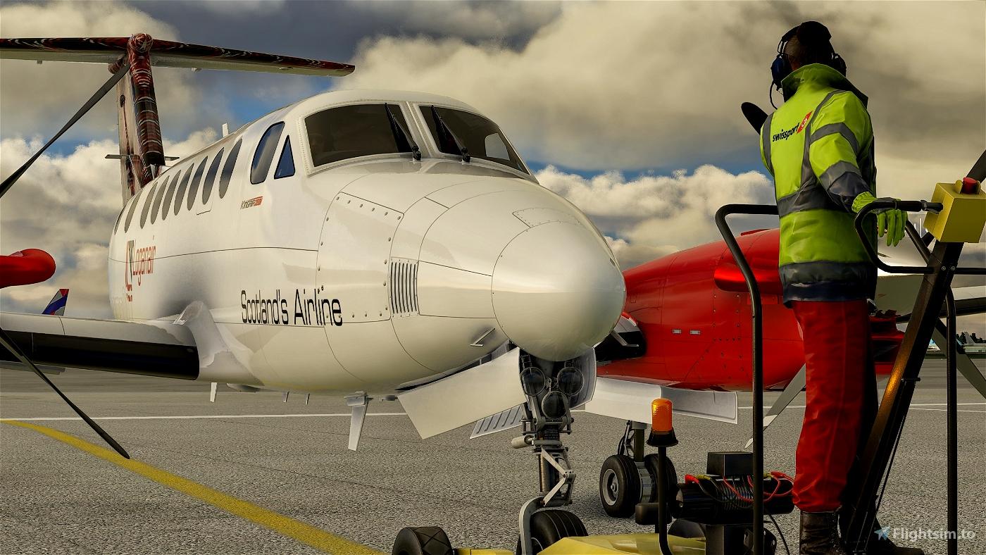 Beechcraft King Air350 Loganair Flight Simulator 2020
