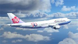 B747 China Airlines 50th Anniversary Livery Image Flight Simulator 2020