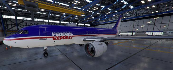 1980s Federal Express - Drag & Drop Method Flight Simulator 2020