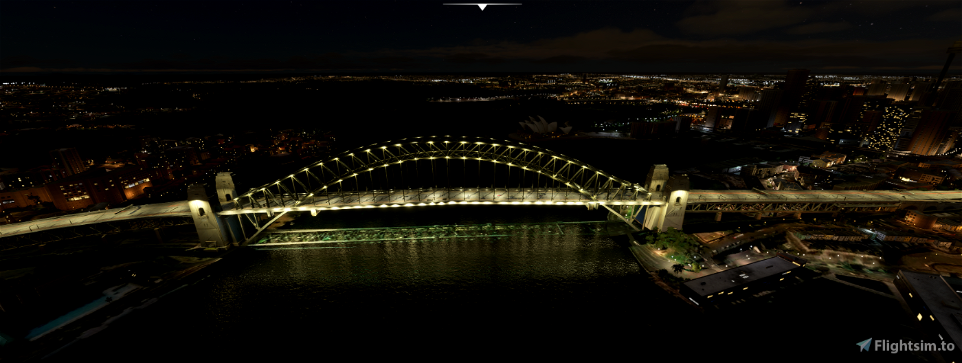 Sydney Harbour Bridge Image Flight Simulator 2020