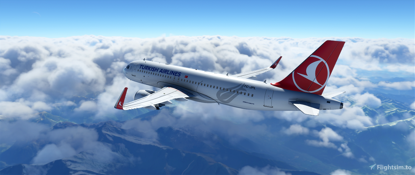 Turkish Airliners A320 Liveries 4K Textures, Detailed Livery.