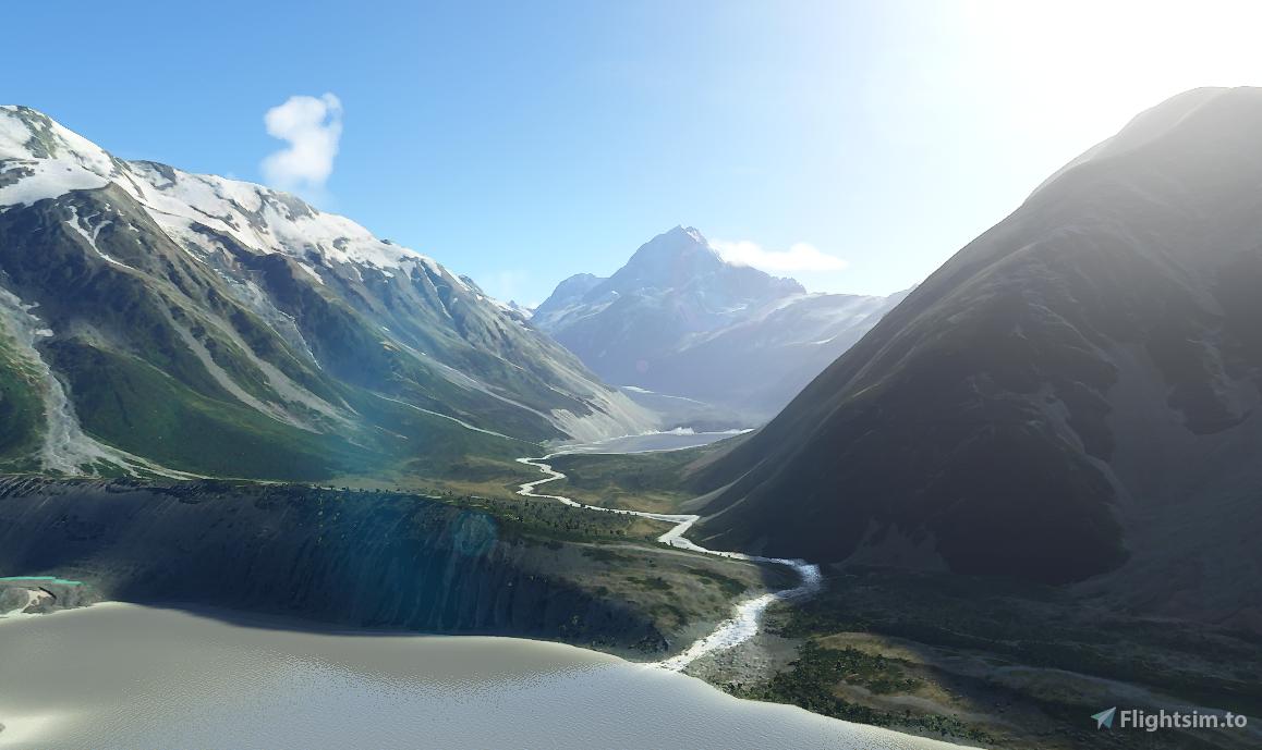Aoraki/Mt Cook and Mt Tasman Flight Simulator 2020