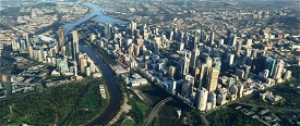 Melbourne CBD and Southbank - Cut Down Image Flight Simulator 2020