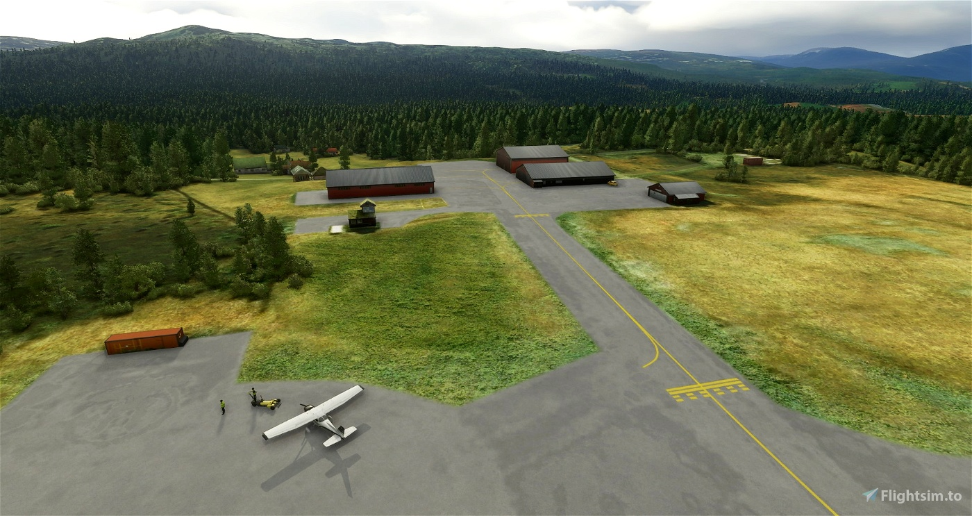 ENOP Oppdal airport Image Flight Simulator 2020