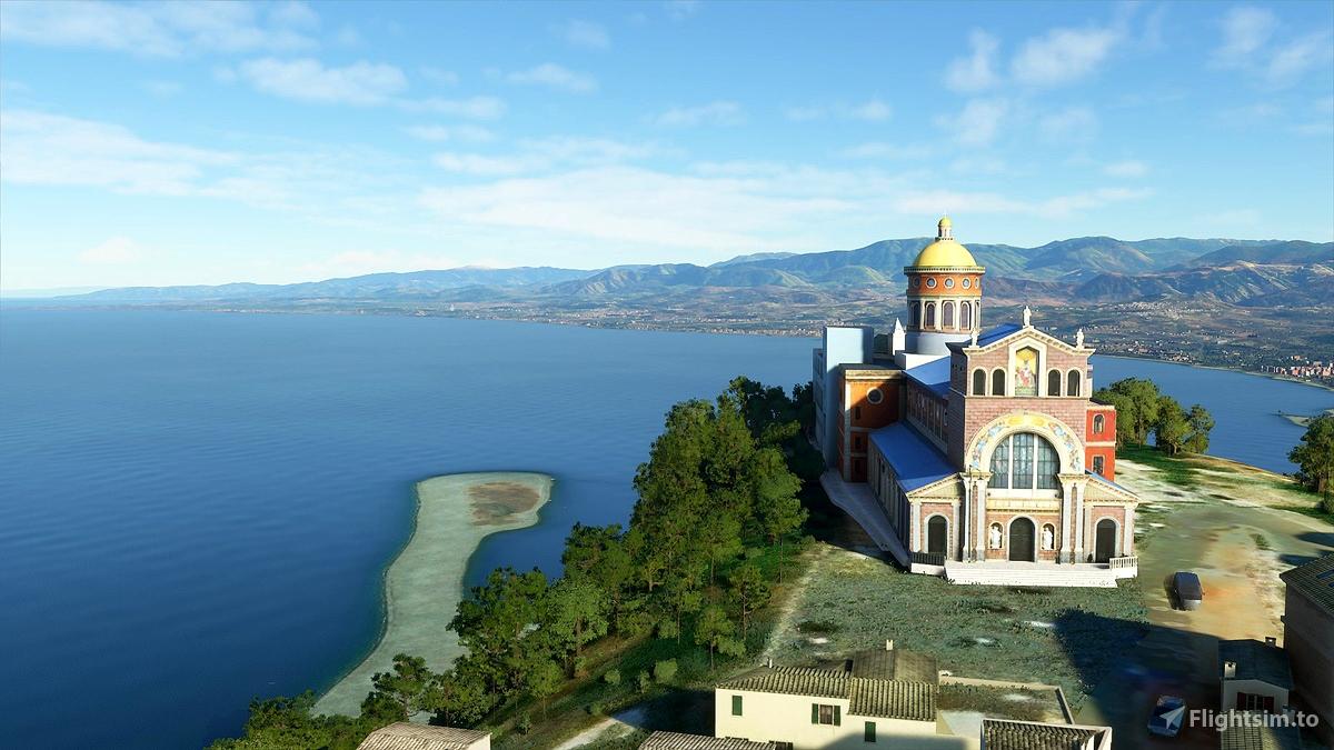 Messina, Sicily, Italy. City and Province Landmarks.