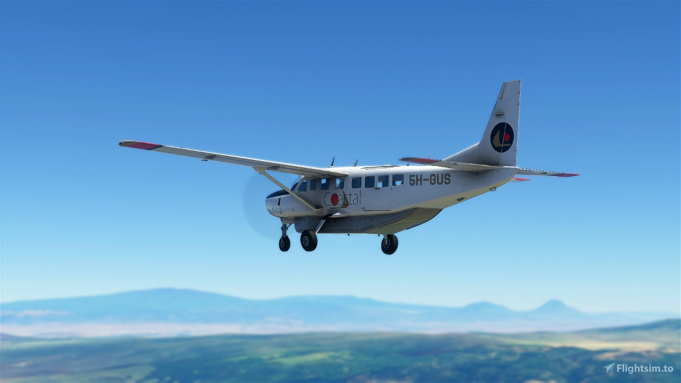 Coastal Aviation 5H-GUS Cessna 208B Grand Caravan Livery Flight Simulator 2020