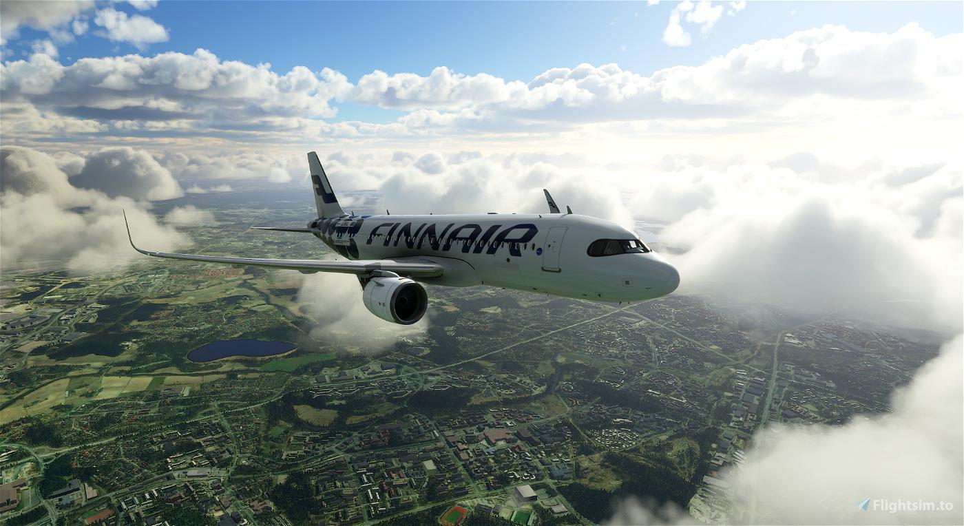 Finnair Marimekko Kivet Flight Simulator 2020