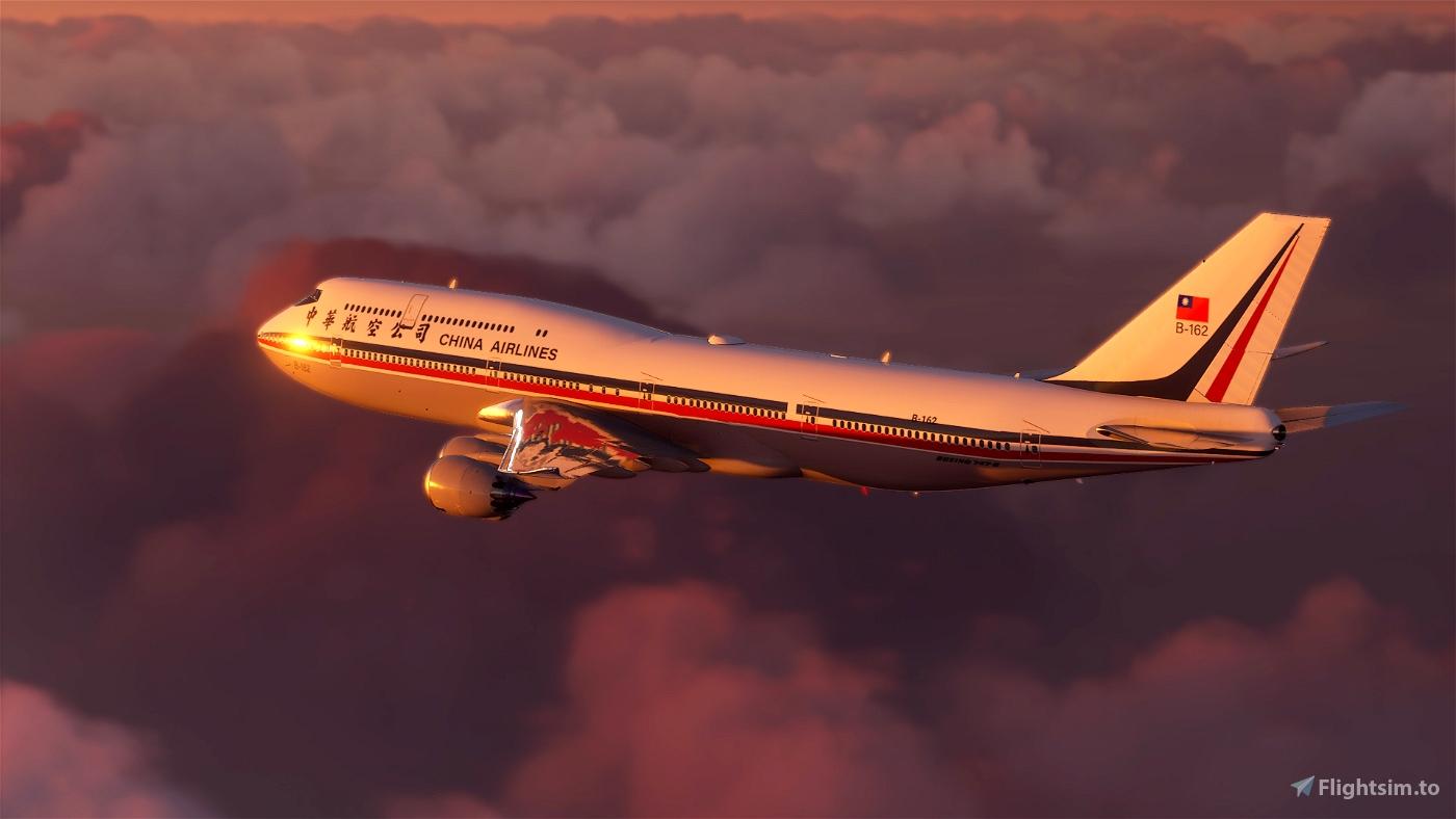 B747 China Airlines Retro Livery Flight Simulator 2020