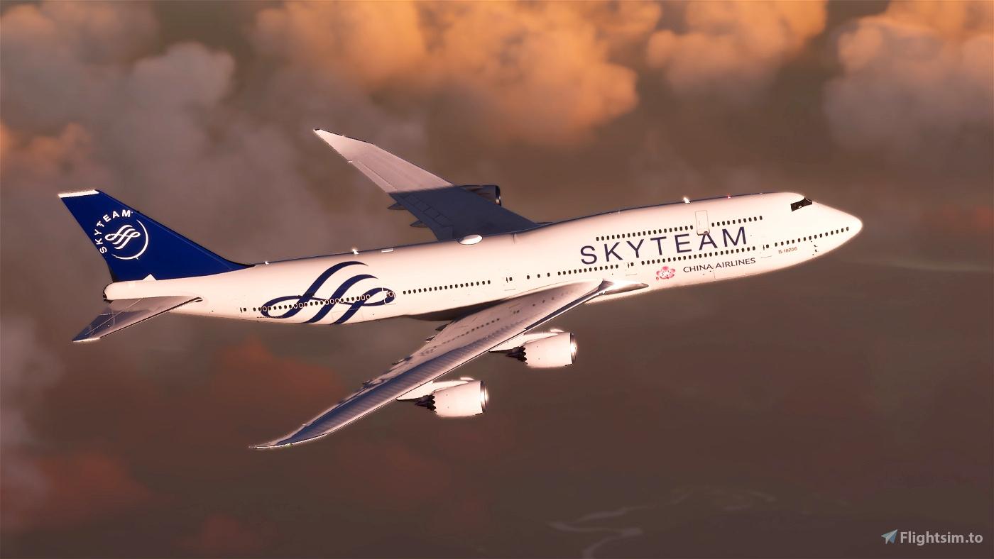 B747 China Airlines Skyteam Livery Flight Simulator 2020