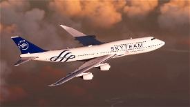 B747 China Airlines Skyteam Livery Image Flight Simulator 2020