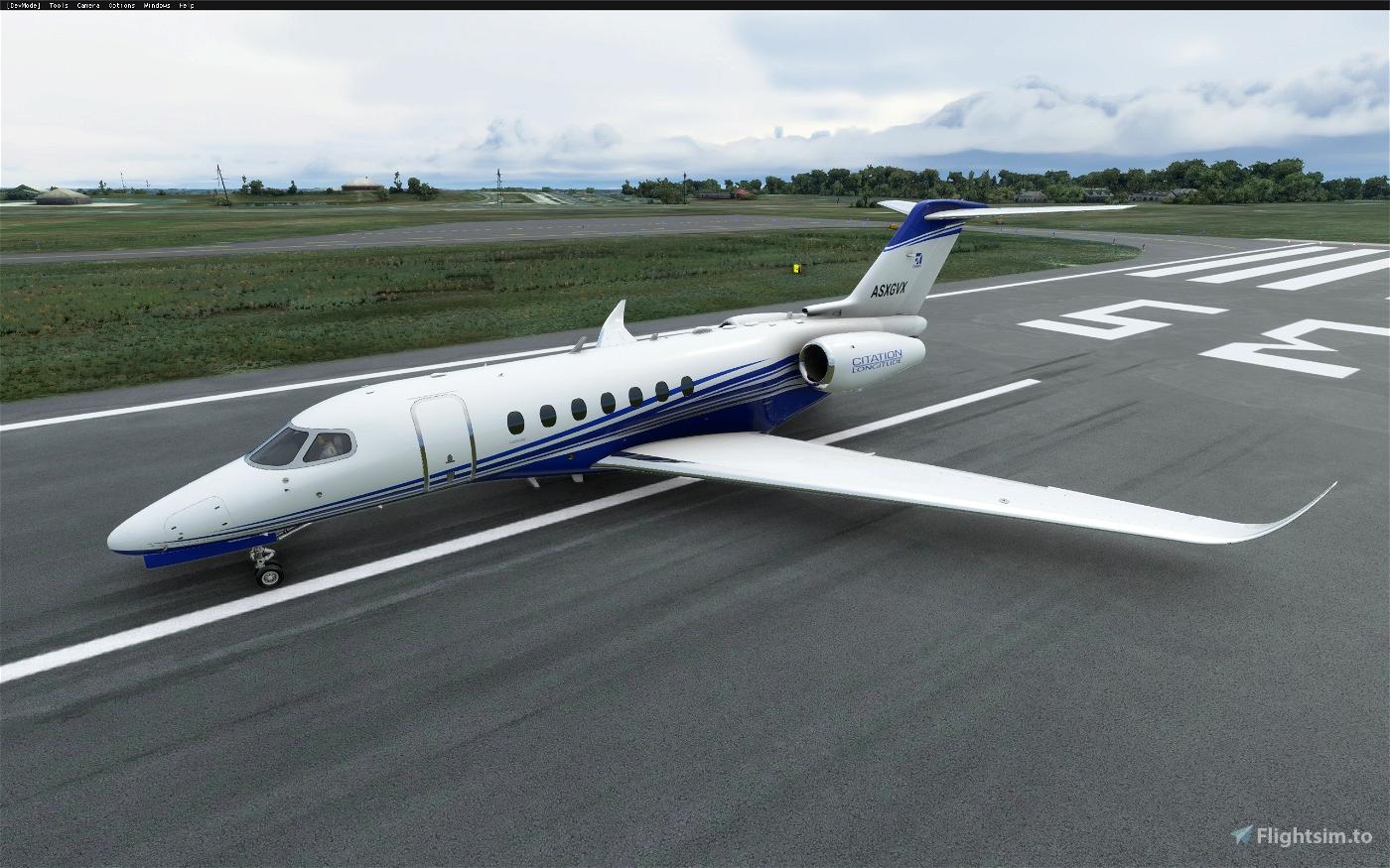 Cessna Longitude alternate color stripes (8 colors) Microsoft Flight Simulator