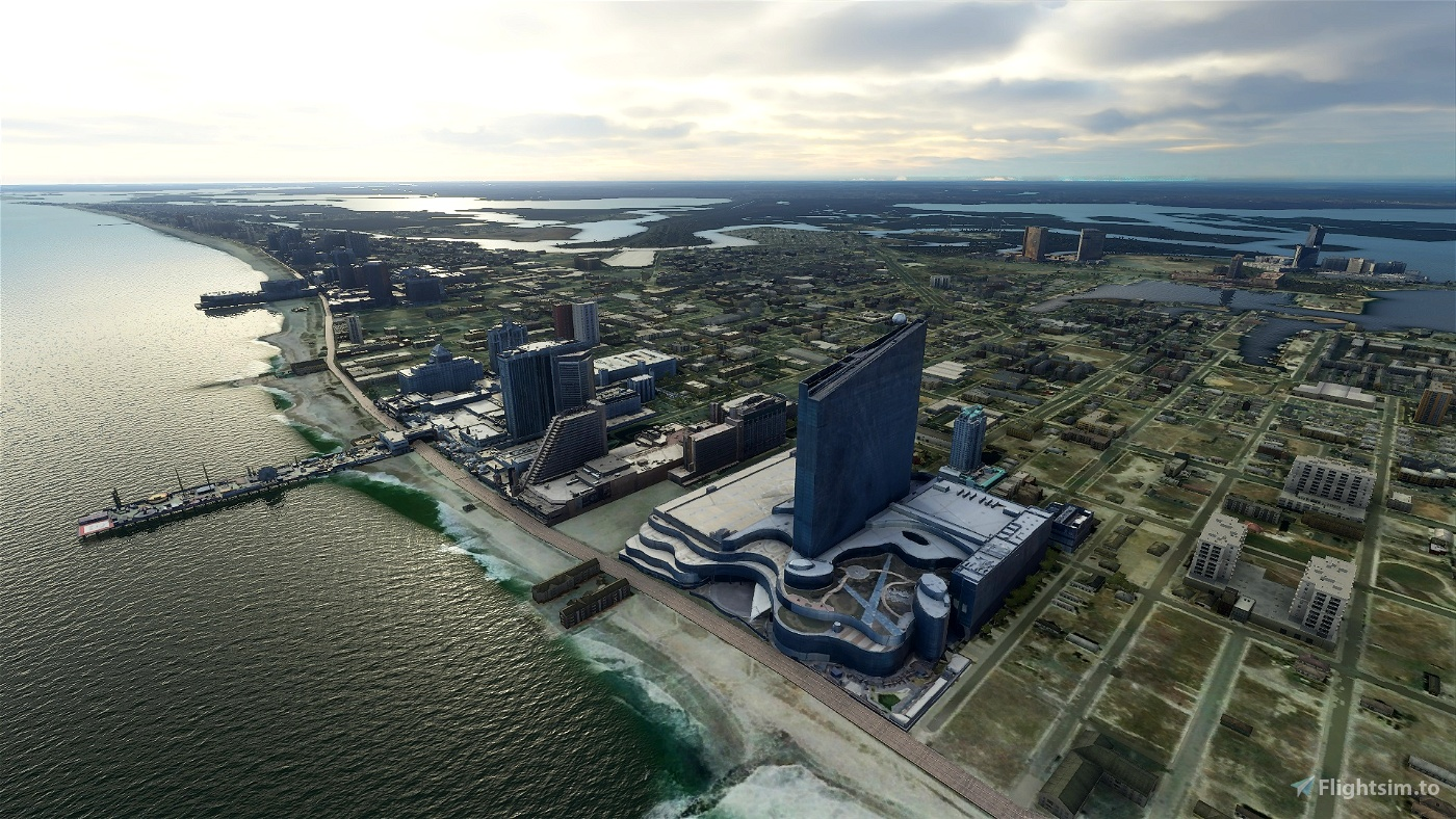 Atlantic City Skyline Image Flight Simulator 2020