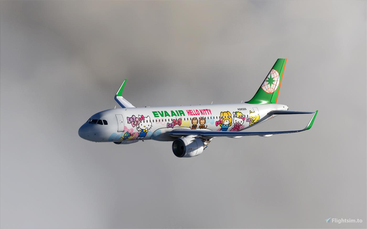 Eva Air Hello Kitty Flight Simulator 2020