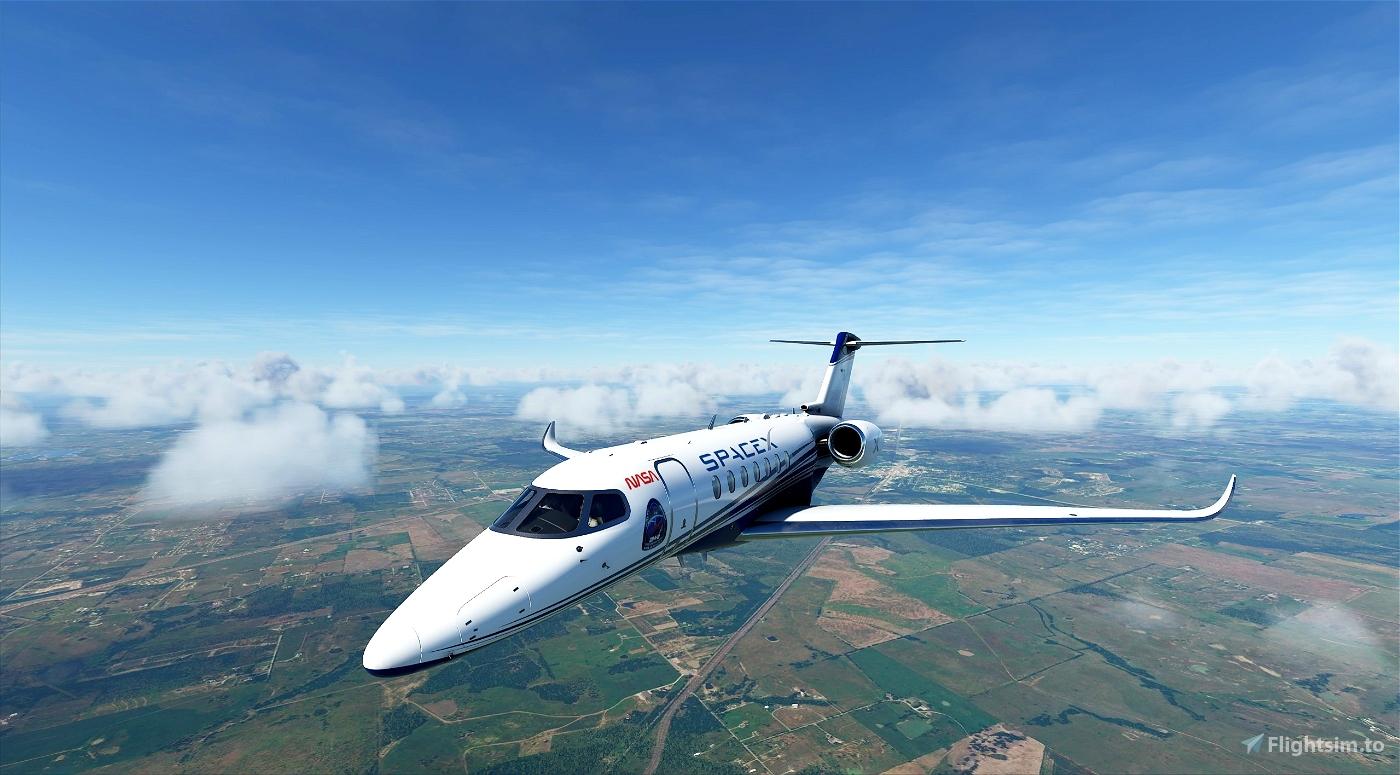 SpaceX Longitude Livery Flight Simulator 2020
