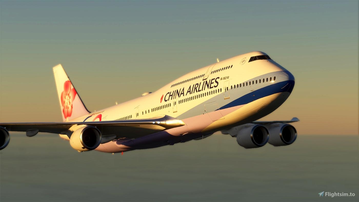 B747 China Airlines 60th Anniversary Livery Flight Simulator 2020