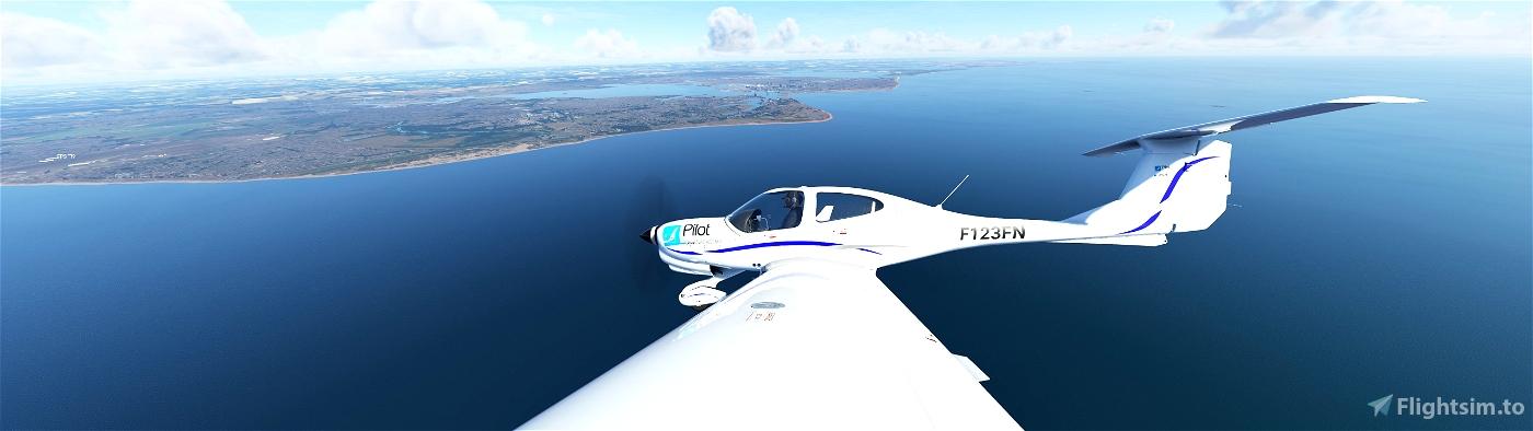 Water Modification ( increasing saturation/ blue tint/ contrast) so it looks less dull / drab Flight Simulator 2020