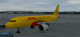 DHL A320 Cargo Image Flight Simulator 2020