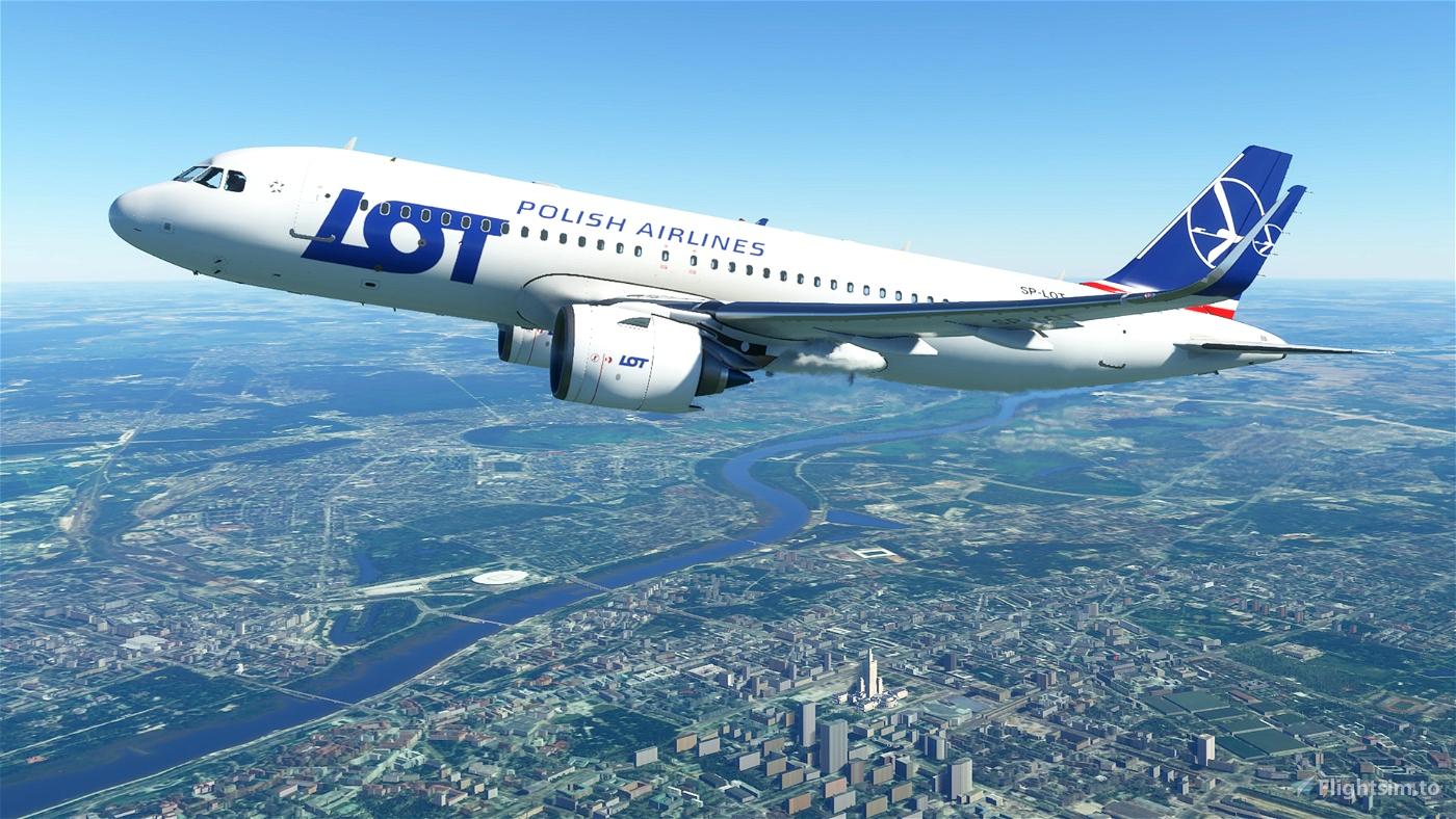 Polish Airlines (LOT) A320 (4K - High-Res) Flight Simulator 2020