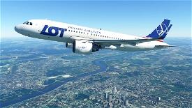 Polish Airlines (LOT) A320 (4K - High-Res) Image Flight Simulator 2020