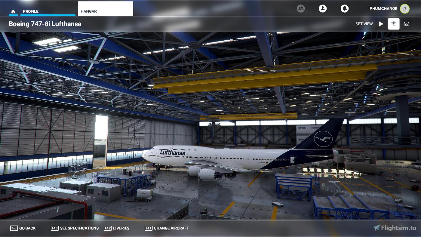 (working 1.12.13.0) Lufthansa New Livery 747-8i