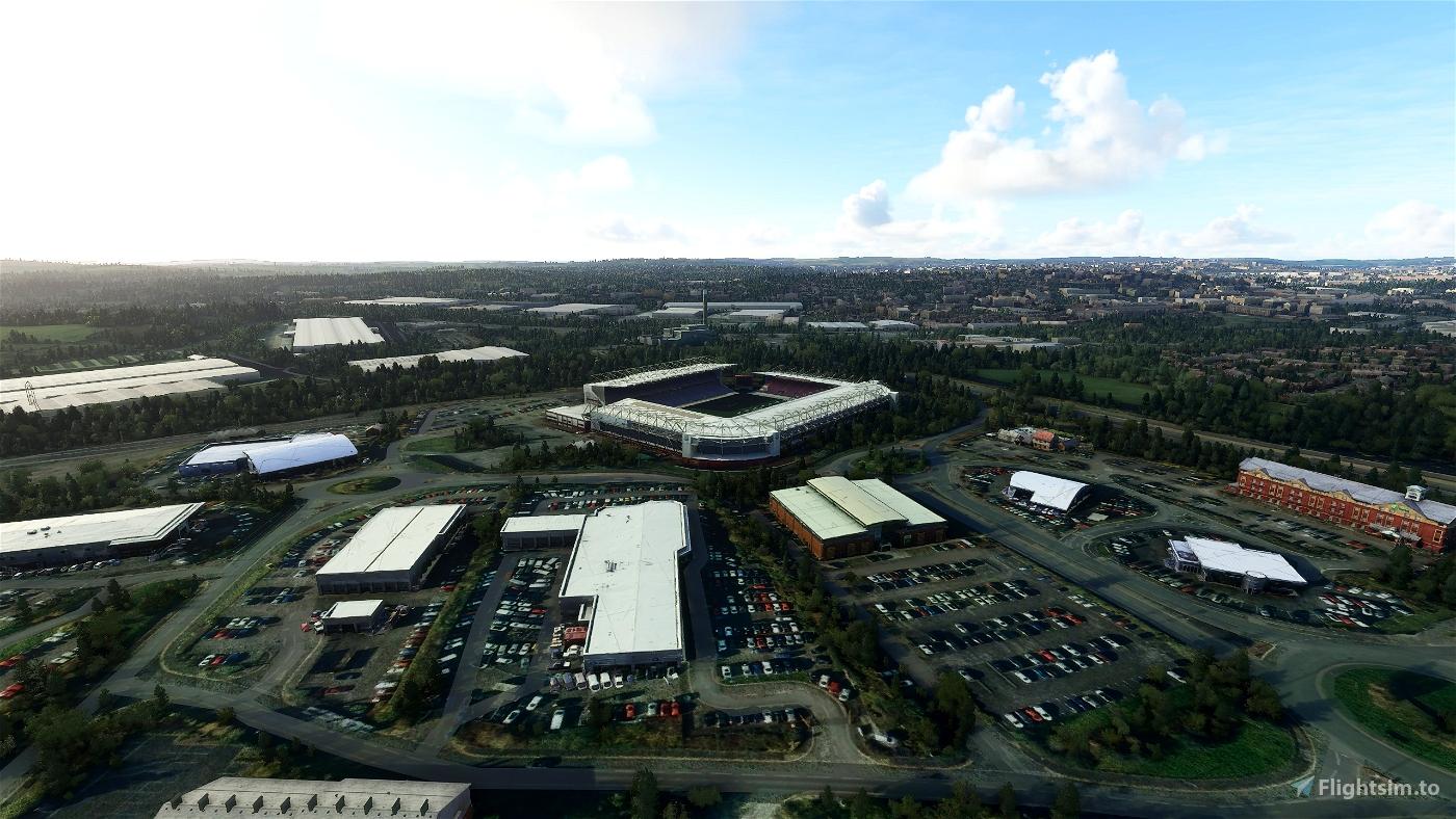 Stoke-on-Trent Landmarks Flight Simulator 2020