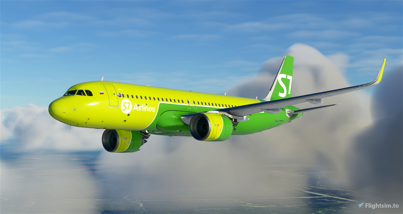S7 - Siberia Airlines A320neo VP-BTB Flight Simulator 2020
