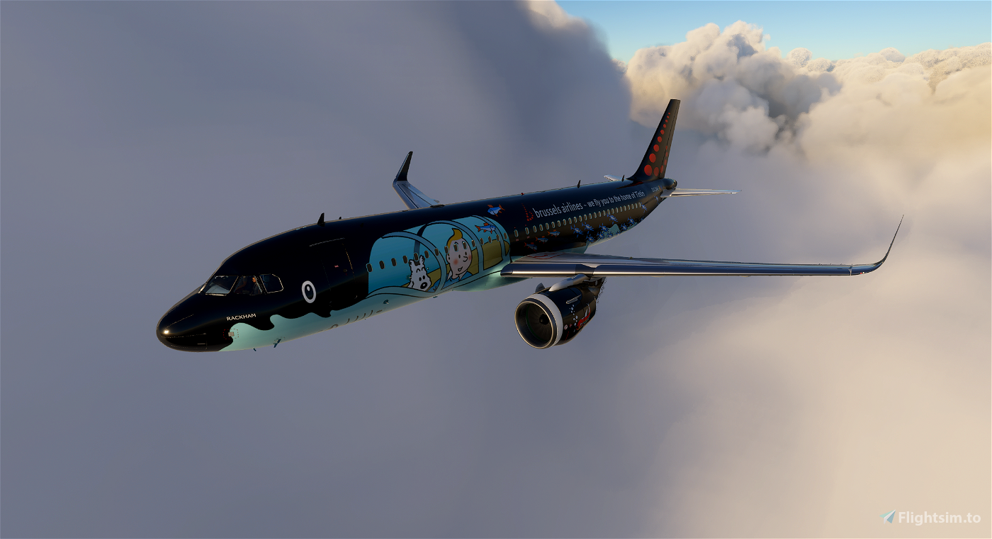 A320 Neo Brussels Airlines - SN Rackham (Tintin)