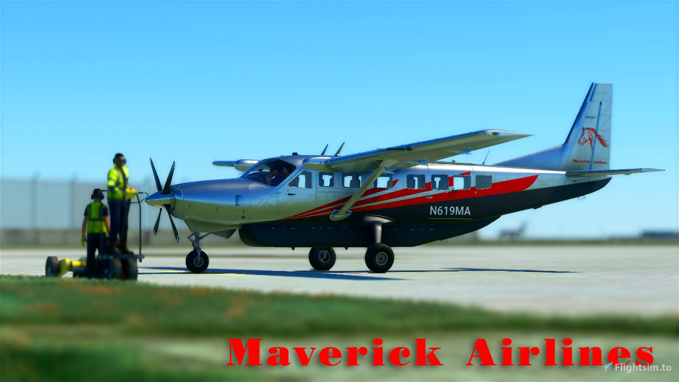 Maverick Airlines Cessna 208b Grand Caravan EX Livery Flight Simulator 2020